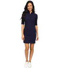 Lacoste Half Sleeve Stretch Pique Polo Dress Navy Blue Women's Dress