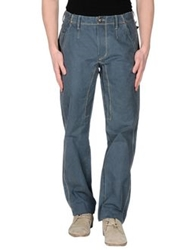 Jaggy Casual Pants Slate Blue