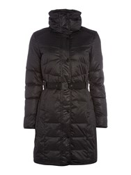 Calvin Klein Orla Long Fitted Padded Jacket Black