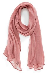 Women's Roffe Accessories Crinkle Scarf Pink Rose Pink Lipstick