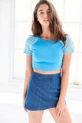 Truly Madly Deeply Lifeguard Tower Cropped Tee Blue