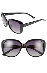 Women's Polaroid Eyewear 57Mm Polarized Sunglasses Shiny Black