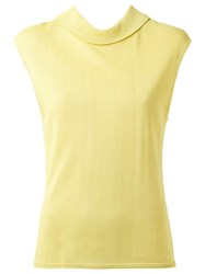 Egrey Sleeveless Knit Blouse Yellow Orange