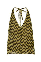 This Moment Black And Yellow Sketch Print Top By Goldie Multi
