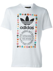 Adidas Graphic Print T Shirt White