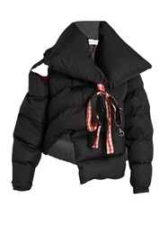 Marques Almeida Oversized Asymmetric Quilted Jacket Black
