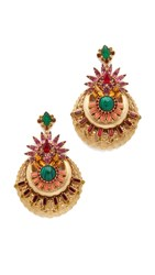 Elizabeth Cole Venessa Earrings Sunny Ruby