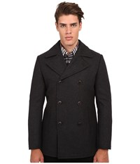 7 Diamonds Seville Peacoat Charcoal Men's Coat Gray