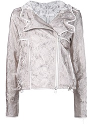Veronica Beard Lace Biker Jacket