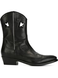 Golden Goose Deluxe Brand Star Detail Cowboy Boots Black