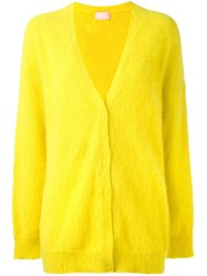 Giamba Long Cardigan Yellow Orange