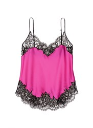 Givenchy Floral Lace Trim Silk Satin Lingerie Camisole Pink