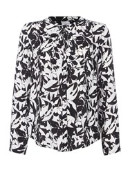 Linea Floral Print Pussy Bow Blouse Multi Coloured