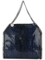 Stella Mccartney A Falabellaa Fold Over Tote Blue