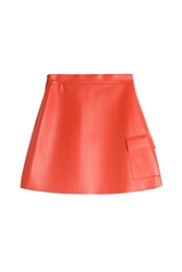 Msgm Faux Leather Mini Skirt Red