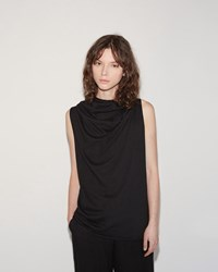 Lost And Found Sleeveless Cowl Blouse Black