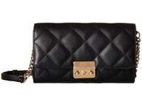 Mighty Purse Vegan Leather Charging Quilted Wallet Bag Black W Gold Buckle Wallet Handbags