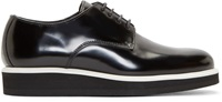 Public School Black Leather Platform Derbys