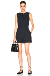 Victoria Victoria Beckham Sleeveless Romper In Blue