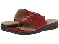 Softwalk Toma Red Soft Nappa Leather Women's Sandals Brown