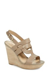 Women's Sole Society 'Jenny' Slingback Wedge Sandal Night Taupe