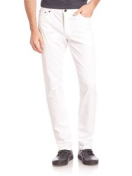 John Varvatos Solid Slim Fit Jeans White