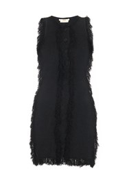 Edun Fringed Edge Mini Dress Black