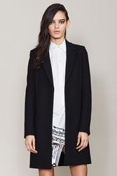 Anthony Vaccarello X Versus Tailored Mid Length Coat Black