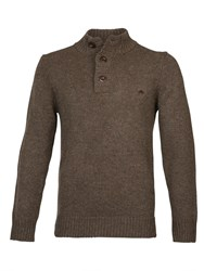 Raging Bull Button Up Funnel Neck Chocolate