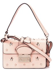 Red Valentino Gold Tone Stars Studded Tote Pink Purple
