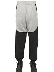 Astrid Andersen Cotton And Viscose Jogging Trousers Black Grey