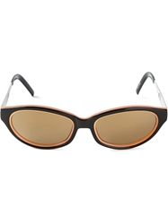 Jean Paul Gaultier Vintage Oval Frame Sunglasses Black