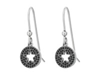 Marc Jacobs Pave Star Earrings Jet Antique Silver