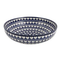 Bunzlau Castle Serving Bowl Blue Valentine Large