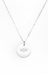 Nashelle Sterling Silver Mom Charm Necklace