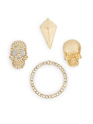 Robert Rose Goldtone Skull Ring And Arrowhead Brooch Set