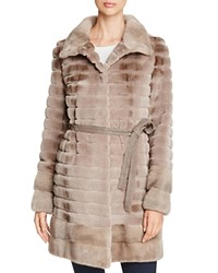 Maximilian Furs Grooved Sheared Mink And Long Hair Mink Fur Coat Bloomingdale's Exclusive Silver Blue