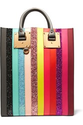 Sophie Hulme Albion Glittered Striped Leather Tote