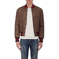 R 13 R13 Men's Leopard Print Bomber Jacket No Color