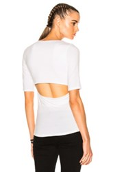 Alexander Wang T By Modal Spandex Back Slit Tee In White