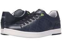 Hugo Boss Ray Check Dark Blue Men's Lace Up Casual Shoes