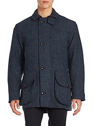 Saks Fifth Avenue Textured Woolen Jacket Navy