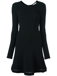 Carven Fit And Flare Dress Black