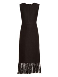 Adam By Adam Lippes Fringed Linen And Cotton Blend Dress