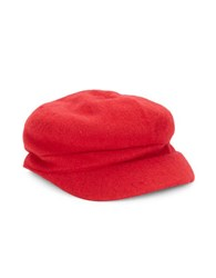 August Hats Wool Blend Newsboy Hat Red