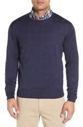 Peter Millar Men's Crewneck Merino Wool And Silk Sweater