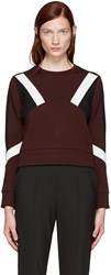 Neil Barrett Burgundy Cropped Modernist Pullover