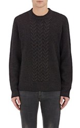 Rag And Bone Men's Wool Blend Crewneck Sweater Brown