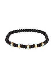 Luis Morais Onyx Enamel And Yellow Gold Bracelet