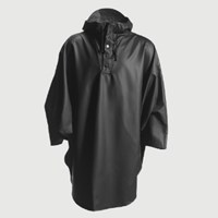 Rains Black Hooded Poncho